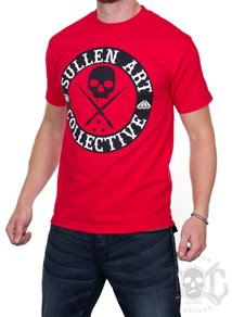 Sullen All Day Badge Tee, Röd