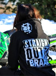 eXc S O Braap Girly Zip Hood