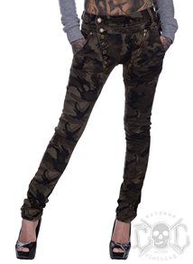 Zipped Baggy camo pants