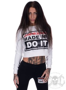 eXc Made Me Do It Cropped Crewneck, Vit