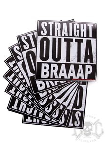 eXc Straight Outta Braaap Sticker 15X15cm
